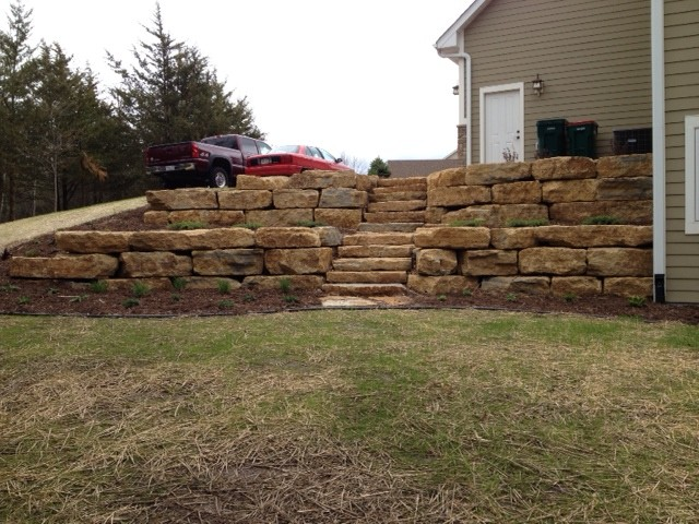 Retaining Wall And Hydroseed